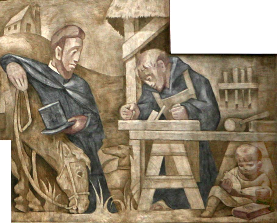 image of ministries from Fresco at St Benedict's Abbey, Atchison